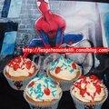 Cupcakes spiderman hyper simples
