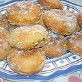 Beignets fourrés à la nutella ou confiture