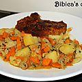 Poêlée de chou pointu, carottes et pommes de terre