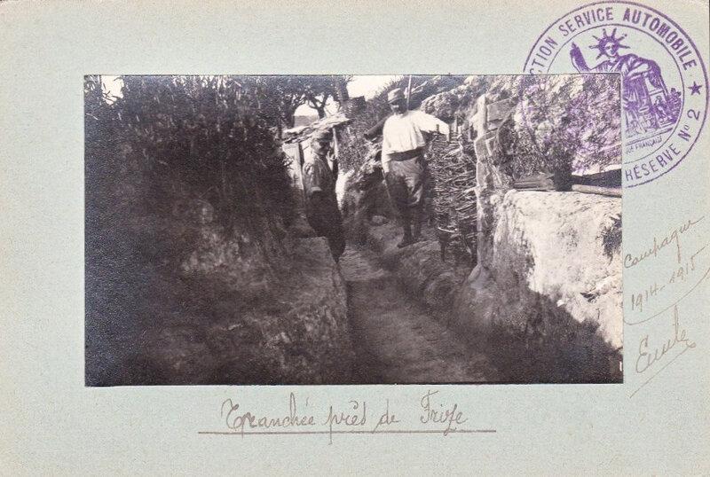tranchée près de Frise, 1915