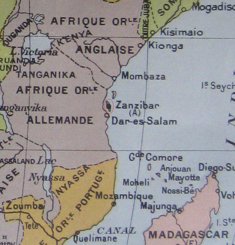 ZANZIBAR   Carte   Album Historique et Géographique de Timbres Poste