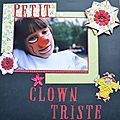 Petit clown triste