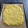 Pâte à pizza à base de courgette râpée
