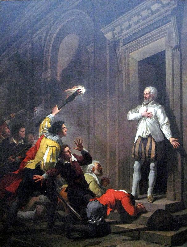 1787 - L'Amiral Coligny en impose à ses assassins,