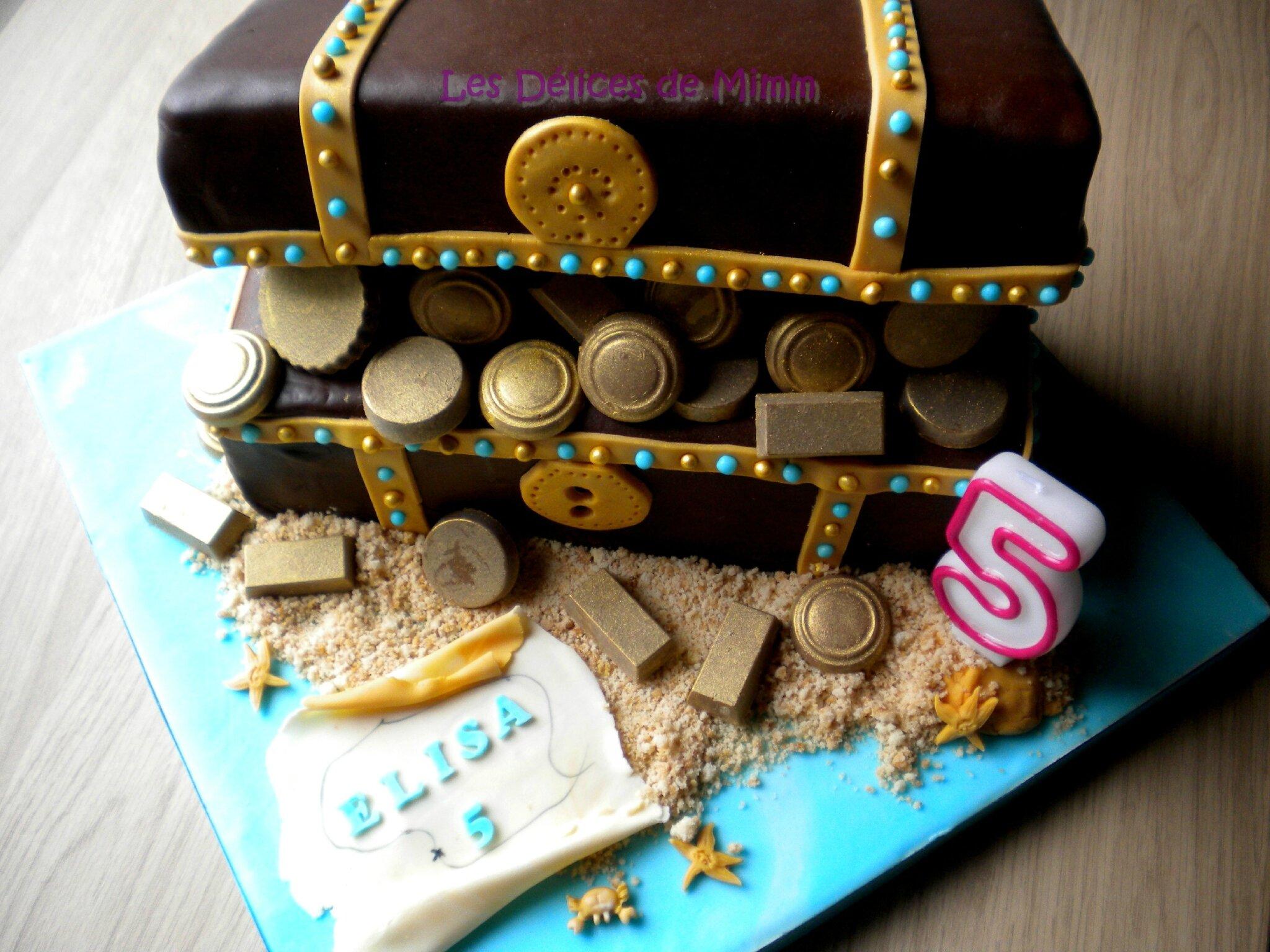 Gâteau Le coffre au trésor d'Elisa