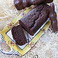Cake fondant à la carotte et aux chocolats de pâques
