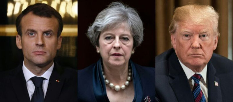 macron-theresa-may-trump