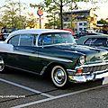 Chevrolet bel air sport hardtop coupe de 1956 (Rencard du Burger king septembre 2011) 01