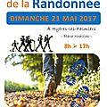 Dimanche 21 mai, fête de la randonnée à hyères....