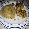 Cuisses de poulet à la sauce crémeuse au poivre vert