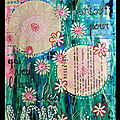 Challenge S258 - DT 52 RSC (inspiration fleur papier - <b>Art</b> <b>Journal</b>)