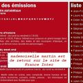 <b>Patricia</b> <b>Martin</b> : le retour sur le site de France Inter