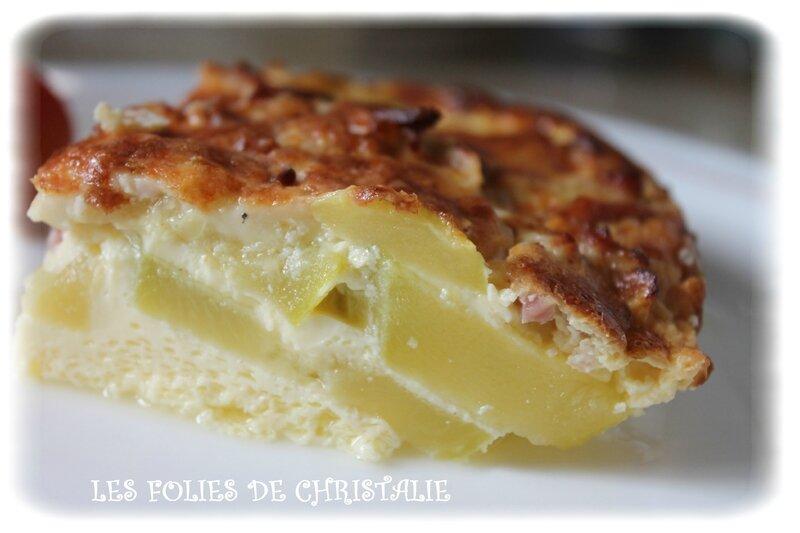 Flan courgettes lardons fromage les folies de christalie ou quand la cuisine devient passion - Quand semer les courgettes ...