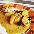 Tajine poulet olives citron
