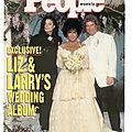 Liz & larry's wedding album - people weekly, 21 octobre 1991