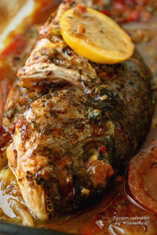 Daurade farcie aux crevettes passion culinaire by minouchka - Recette poisson grille au four ...