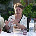 Marieke <b>Aucante</b> , auteur, au club lecture à Cerdon du Loiret