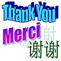 <b>Thank</b> You! Merci!