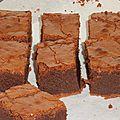 Brownie au chocolat blanc et noir