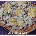 Pizza ananas saumon