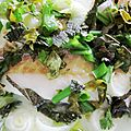Poisson en robe bouquet d'herbes