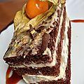 Physalis sur son lit de chocolat et abricots-2