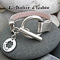 🎶je vous souhaite tout le bonheur du monde avec ce bracelet bonheur cuir rose poudré