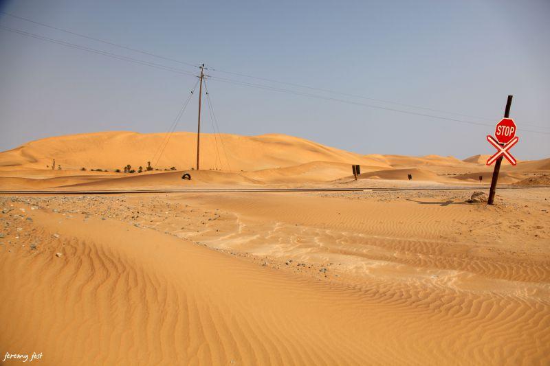 a train in the desert