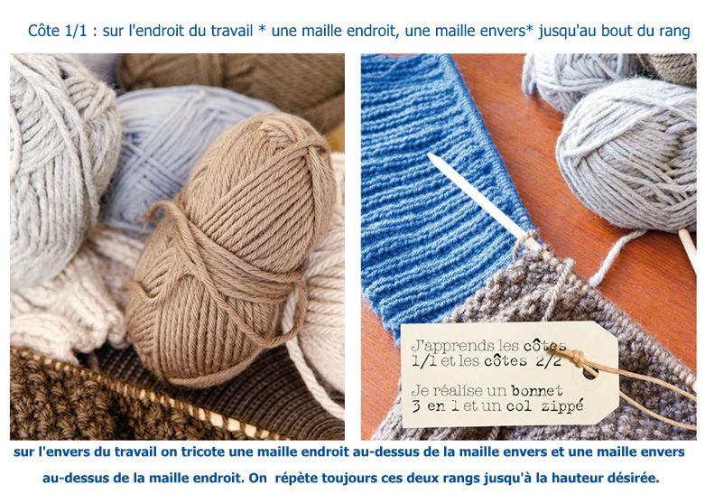 tricoter 2 rangs jersey endroit