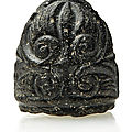 A Fatimid carved glass or obsidian chess piece, Egypt, <b>10th</b>-<b>11th</b> <b>century</b>