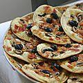 Mini pizza aux champignons
