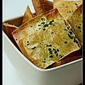 Chips de wonton