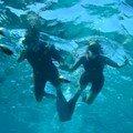 R et J photo sous l'eau