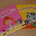 Des <b>livres</b> <b>à</b> <b>toucher</b> pour les bébés : Chacha Miaou et Lili Princesse