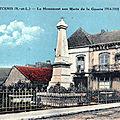 Inauguration du Monument aux Mort de <b>Montcenis</b>