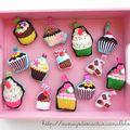 Porte-clés cupcakes Au pays des Cactus