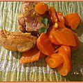 Mignon mariné et carottes confites