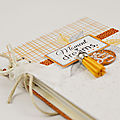 Tuto mini album scrapbooking déstructuré et pages en aquarelle