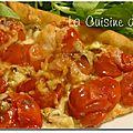Tarte aux sardines et tomates cerises