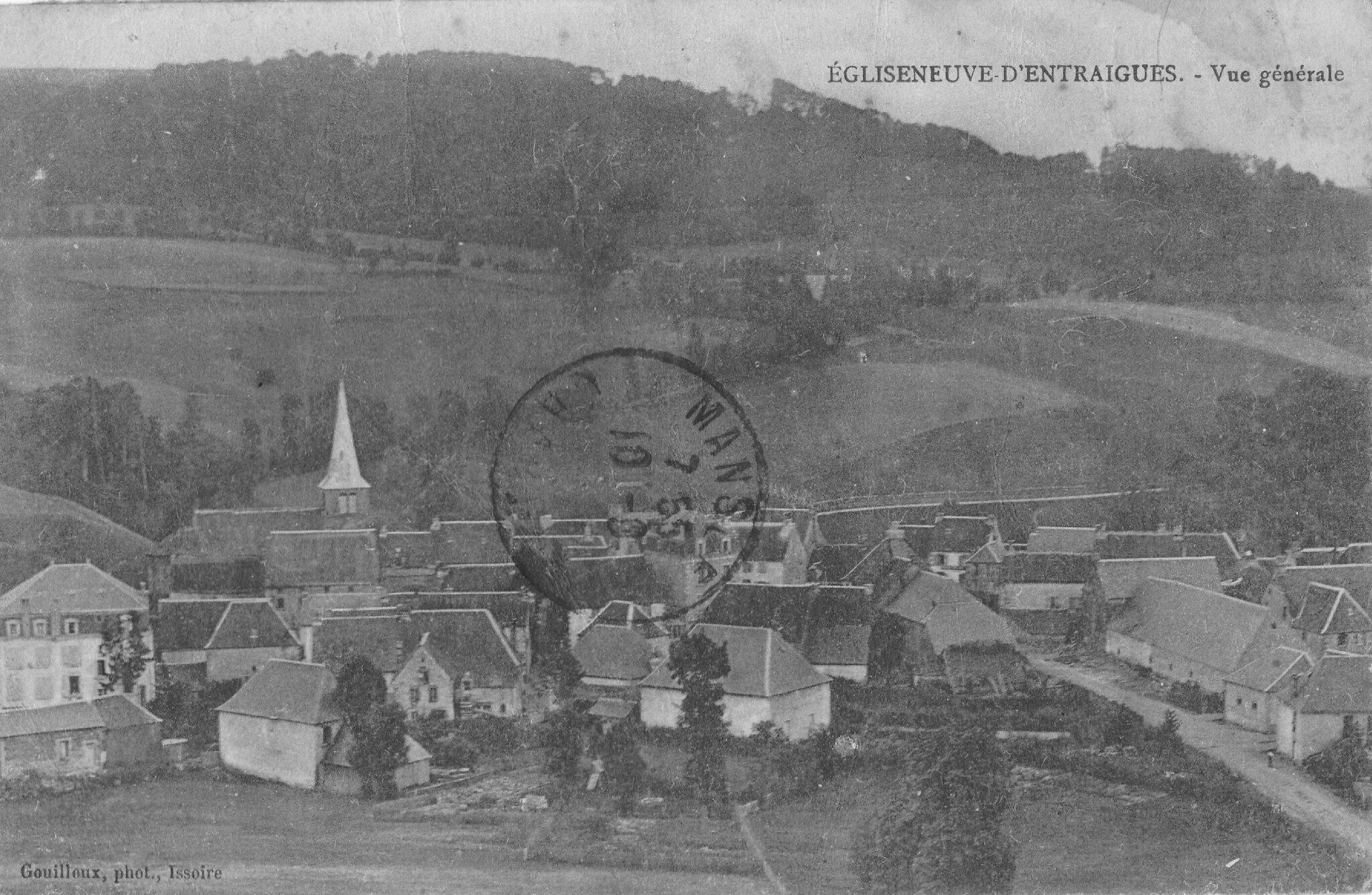 Egliseneuve d'Entraigues Vue générale (1921)