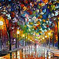 Winter Oil Paintings of <b>leonid</b> afremov