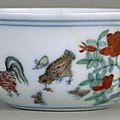 Chicken cup, ming dynasty, chenghua mark and period (1465–1487)