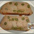 Terrine de saumon, ricotta et asperges vertes