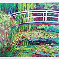 Le <b>bassin</b> au nymphéas d'après Claude Monet