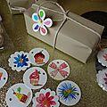 De jolies étiquettes aquarelles pour les cadeaux....