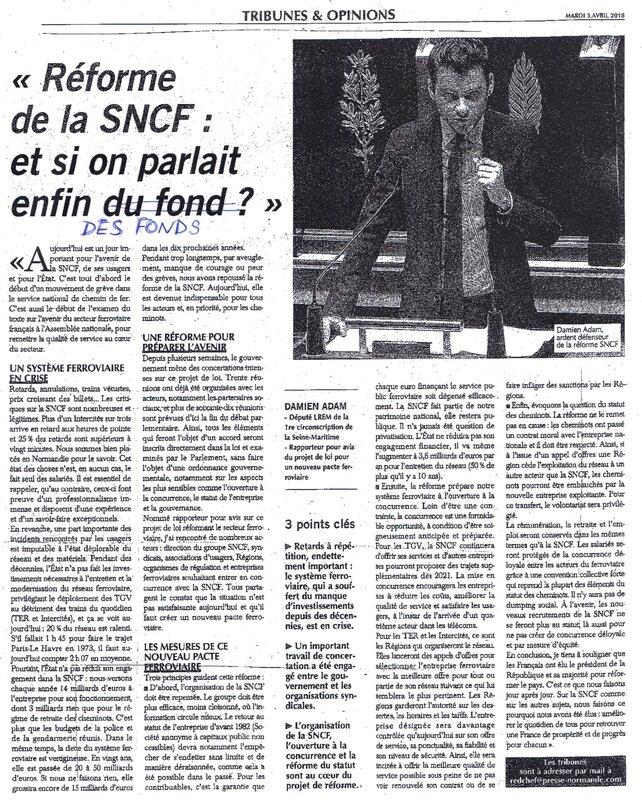 Réforme de la SNCF: il cause, il cause mais pas un mot sur la Normandie!