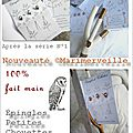 Collection épingles chouettes marimerveille
