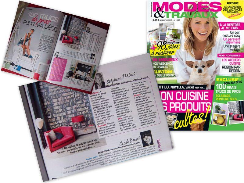 Article Modes & Travaux oct 2011 montage