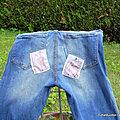 Bouton de rose redwork : <b>customisation</b> de jean