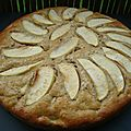 Gâteau pomme rhubarbe excellent
